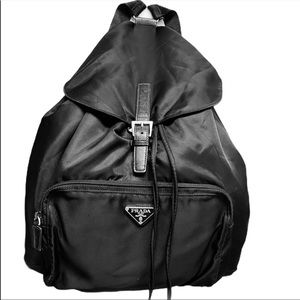 Authentic Prada Black Nylon Backpack NWOT